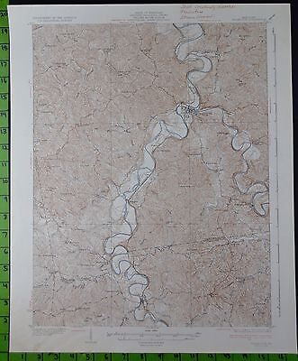 Falmouth Kentucky 1936 Antique USGS Topographic Map 17x20