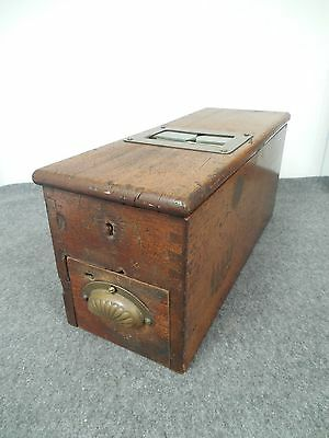 Gledhill & Sons Wood Cash Register w/ Tape and Labels British Made Antique