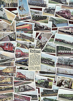 "Cadet Sweets 1956 Set Of 50 ""railways Of The World"" Cadet Trade Cards"