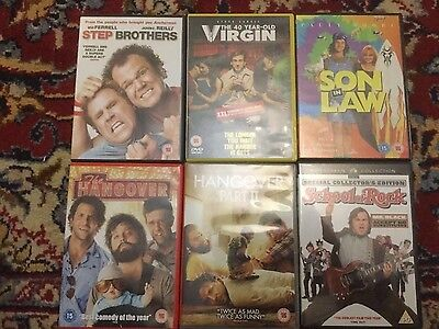 6 comedy dvds