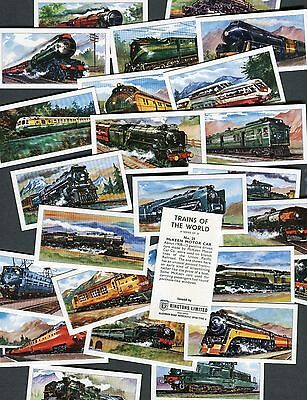 "Ringtons Tea 1970 Set Of 25 ""trains Of The World"" Railway Tea Cards"