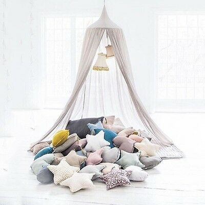 Kids Baby Bedding Round Dome Bed Canopy Netting Mosquito Net Curtain Decor
