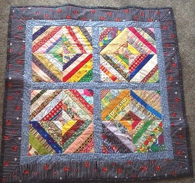 Handmade Patchwork Quilt For Lap, Wall Hanging, Sofa. Cotton