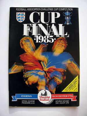 EVERTON v MANCHESTER UNITED 1984-1985 FA CUP FINAL PROGRAMME EXCELLENT CONDITION
