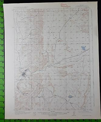Rock Springs Wyoming 1925 Antique USGS Topographic Map 17x20