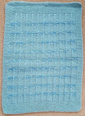 """Hand Knitted Pet Blanket  -  21"""" x 16"""""""