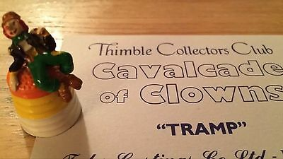 Tramp Collector Club TCC Cavalcade Of Clowns Thimble With Card