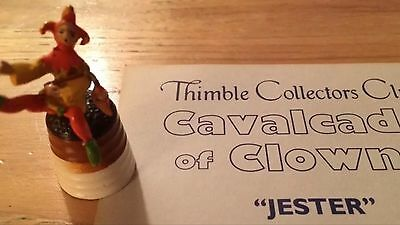 Collector Club TCC Jester Cavalcade Of Clowns Thimble With Card