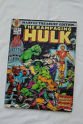 "Marvel Comics Treasury Edition Of ""The Rampaging Hulk""  © 1979"