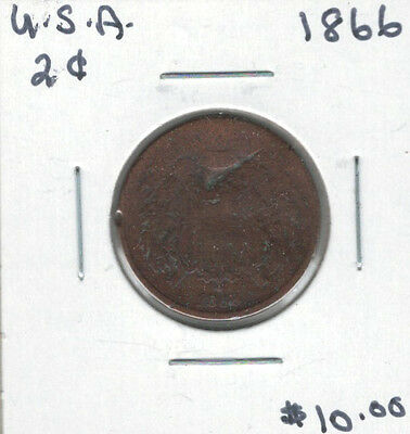 United States USA 1866 2 Cents