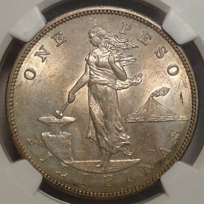 U. S. Philippines Peso 1903-S, Choice Uncirculated, NGC Cert  1020-51