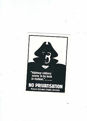 Political Postcard Leeds No Privatisation