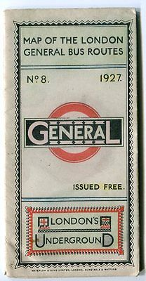 London Map of General Bus Routes, 1927