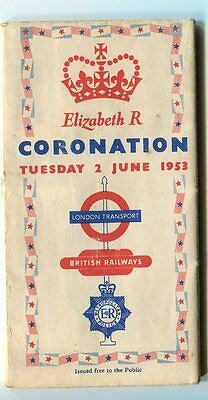 London Map of Bus Routes, Coronation, 1953