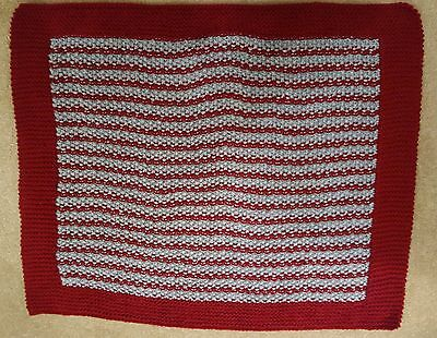 """Hand Knitted Pet Blanket  -  28"""" x 24"""""""