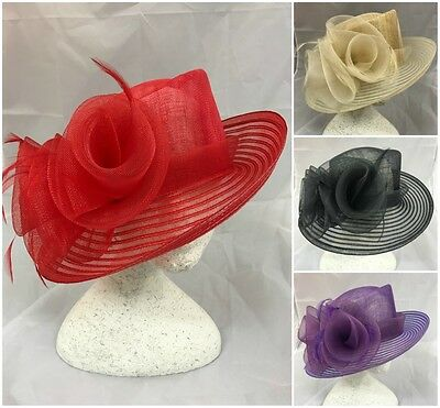 New 2016 Ladies Occasion Church Wedding Ascot Derby Mother of Bride/Groom Hat