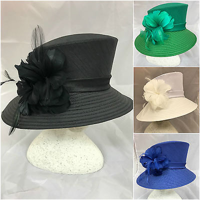 Crushable Silk Small Brim Church Occasion Mother of Bride/Groom Ascot Derby Hat