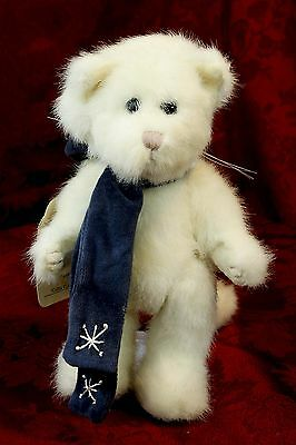 "Boyds Bear Cat Winter Blue Hat Scarf Catia Clawford Jointed  8"" Plush #1364 P41"