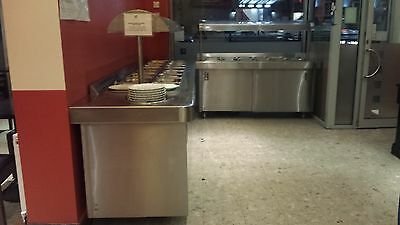 stainless steel water heated food buffet equipment