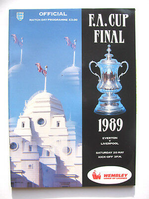 EVERTON v LIVERPOOL 1988-1989 FA CUP FINAL AT WEMBLEY EXCELLENT CONDITION