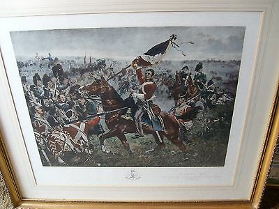 The Battle of Waterloo Engraving (published Henry Graves 1900)