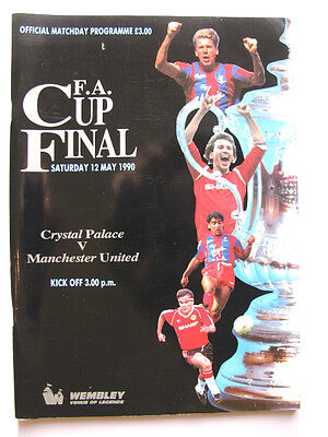 CRYSTAL PALACE v MANCHESTER UNITED 1989-1990 FA CUP FINAL EXCELLENT CONDITION