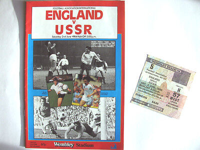 ENGLAND v USSR 1983-84 PROGRAMME & TICKET - EXCELLENT CONDITION