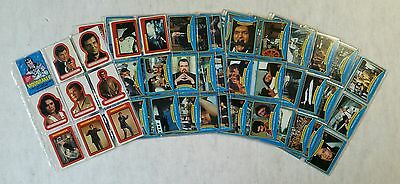Moonraker James Bond Trading Cards Complete Set Stickers and Cards Mint