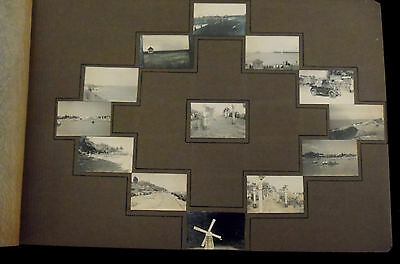 54 old photos 1930's? (unusual postage stamp size small photos)