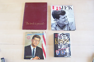 Jfk ~ 4 Lot ~ The Torch Is Passed,  Life - Why We Still Care, The Story Of, Vtg