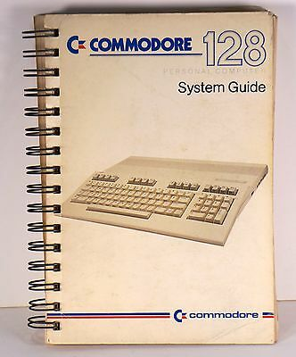 Commodore 128 system guide personal computer manual manuale vintage book
