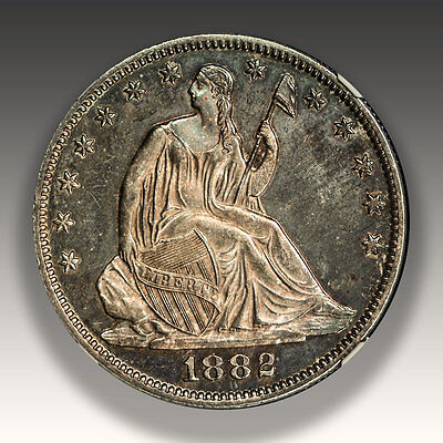 1882 Silver Seated Liberty Half Dollar NGC Graded PROOF 62