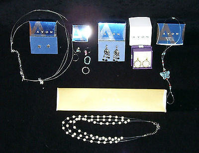 Avon ~ Lot Of Jewelry~ Earrings / Necklaces / Toe Rings / Gift Set / Toe Anklet