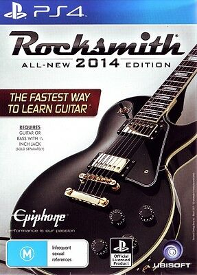 Rocksmith 2014 With Real Tone Cable - PS4 Version (Item ready to post)