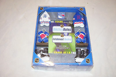 "NEW YORK RANGERS NHL HOCKEY LOCKER ROOM PICTURE FRAME 3 1/2""x5"" ~ ELBY GIFTS NEW"