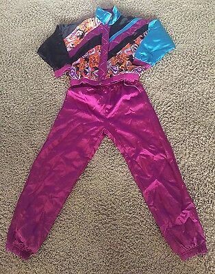 80s Vintage Casual Isle Gold Collection Multi Color Track Suit Bomber Hip Hop M