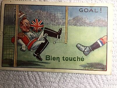 Old Political Postcard - Football Germany versus Britain