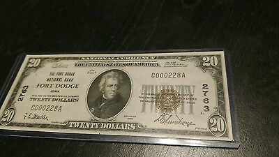 the fort dodge national bank fort dodge iowa $20