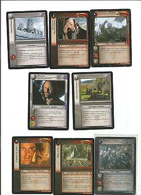 LORD OF THE RINGS lot de 8 cartes