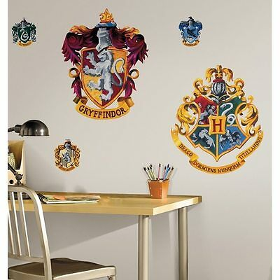 Harry Potter Crest Peel & Stick Giant Wall Decal Brand New!