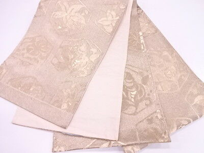 High Class Antique Fukuro Obi For Japanese Kimono, Beautiful Craft Material Nice