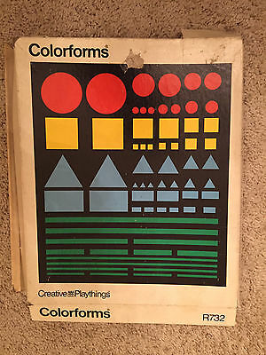 Rare Colorforms By Creative Playthings Activity Set R-732