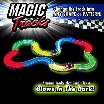 Hot Magic Tracks The Amazing Racetrack that Can Bend, Flex Glow Kid Toy Gift DH