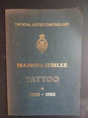 Collectible RUC Royal Ulster Constabulary Diamond Jubilee 1982 Souvenir Booklet