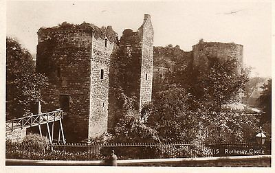 ROTHSAY CASTLE REAL PHOTO c1935 BUTE