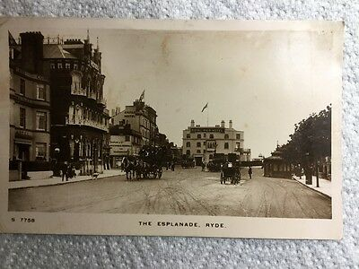 Old Real Photo Postcard - The Esplanade, Ryde, Isle of Wight