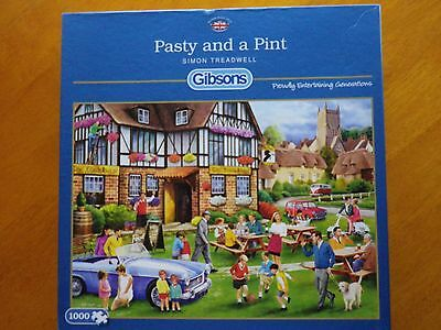 GIBSONS 1000  PIECE JIGSAW PUZZLE - Pasty and a Pint