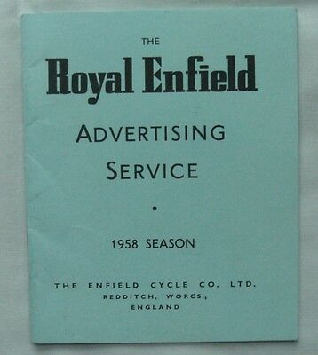 Rare Shop Stockists Trade Only 1958 Royal Enfield Motorcycle Advertising Booklet