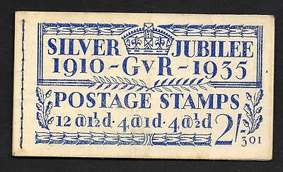 1935 Silver Jubilee Booklet  BB16  Edition 301 INCOMPLETE(6 Stamps)& With Faults