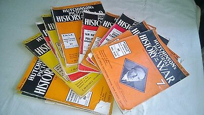Hutchinson's Pictorial History Of The War. 16 Magazines.